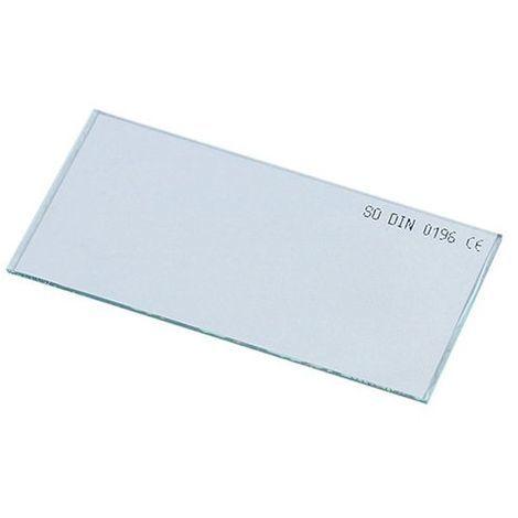Verre incolore 105 x 50 mm pour masque de soudage - 20398063 - Sidamo - Transparent -