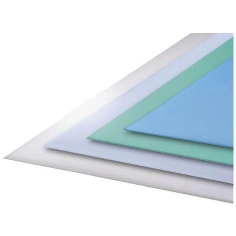 Verre synthétique dépoli bleu - Coloris - Vert, Epaisseur - 3 mm, Largeur - 100 cm, Longueur - 50 cm