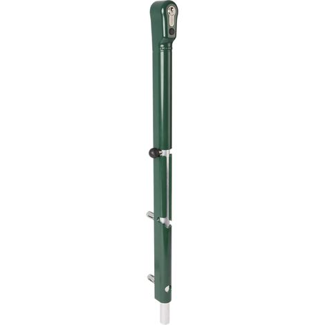 Verriegelbarer Bolzen-Stangenriegel KEYDROP,Riegel 100mm Höhenverstell. silber