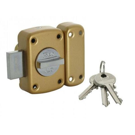 Verrou à bouton à barrette cyl 40 mm s'ouvrant avec les mêmes clés (s'entrouvrant) City 150 ARNOV