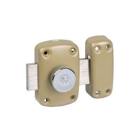 Verrou à bouton bronze - Pêne 110 mm - Cyclop - Vachette
