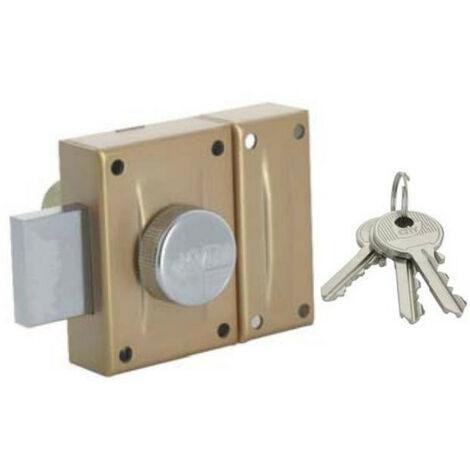 Verrou à bouton et cylindre 40 mm KVR 30 (3 clés) ISEO
