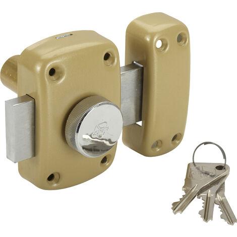 Verrou à bouton et cylindre Cyclop cyl 30/45 mm VACHETTE - plusieurs modèles disponibles
