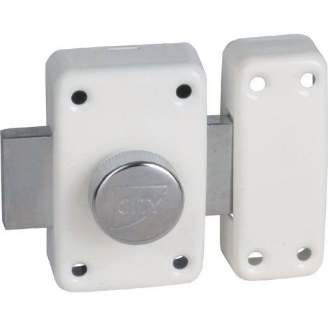 Verrou à bouton et cylindre pêne 135 city 25 (3 clés) ISEO - plusieurs modèles disponibles