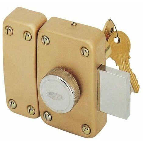 Verrou à bouton et cylindre utilisant les mêmes clés (s'entrouvrant) city 25 (3 clés) ISEO- plusieurs modèles disponibles