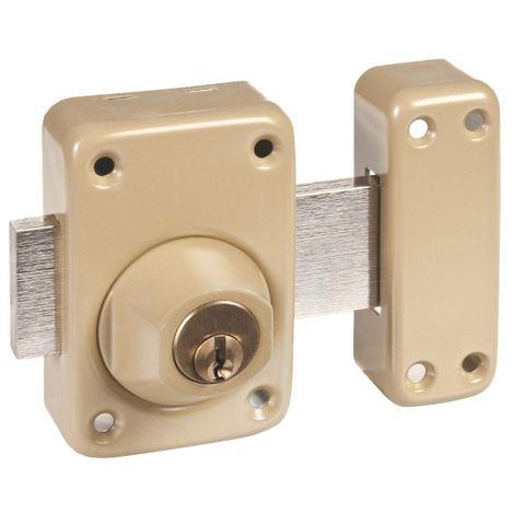 Verrou à cylindre double verni bronze - V136 système V5 - Vachette