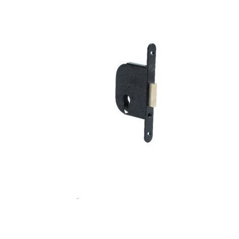 Verrou à mortaiser petit coffre Clé I JPM Axe 50 - Noir avec gâche - 235000-02-0X