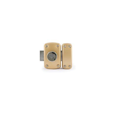 Verrou B6 bouton / cylindre 40mm s'entrouvrant KA200 - 3 clés réversible cylindre D23mm - IFAM - 28402