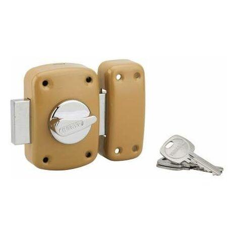 Verrou CORVETTE, bouton cylindre 60mm, epoxy or, 3 clés