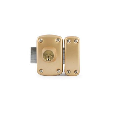 Verrou D5 double cylindre 40mm s'entrouvrant KA1 3 clés - IFAM - 27402