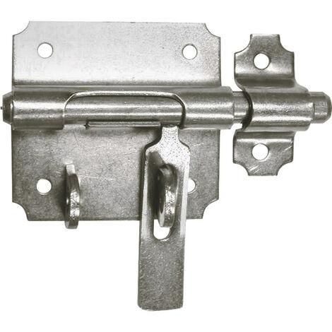 Verrou de box à porte-cadenas - Décor : Zingué - Diamètre : 10 mm - ITAR