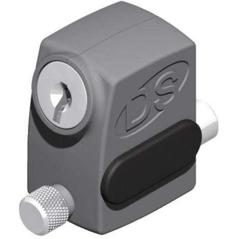 Verrou de condamnation à clé pour coulissant menuiserie aluminium type 2586fintion noir