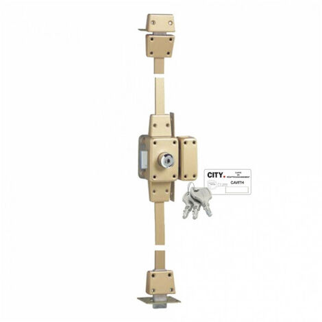 Verrou de haute sécurité à 2 entrées - 3 points Cavith Evolution 1413 (3 clés) Iséo - plusieurs modèles disponibles