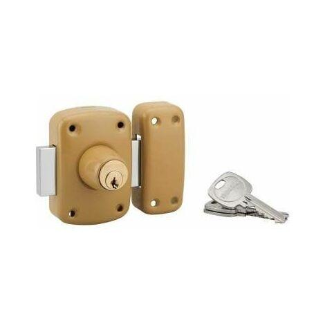 Verrou de haute sureté, émeraude, bouton cylindre à pompe, 40mm, 3 clés