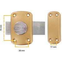 Verrou de Porte A Bouton ( 3 clés ) 45 mm (trous 70x38 mm) Qualité Europe