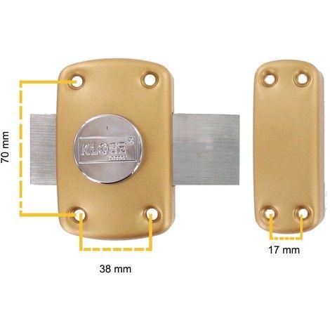 """main image of """"Verrou de Porte KLOSE besser A Bouton ( 5 clés ) 45 mm (trous 70x38 mm) Qualité Europe"""""""