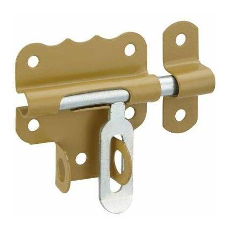 Verrou de porte, targette porte cadenas 50mm, bronze