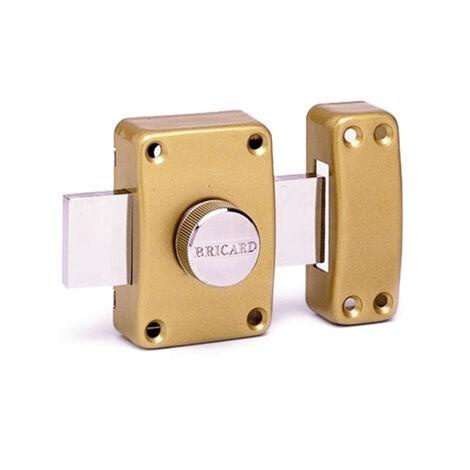 Verrou de securite a bouton pour porte avec cylindre 45 mm Alpha Bricard