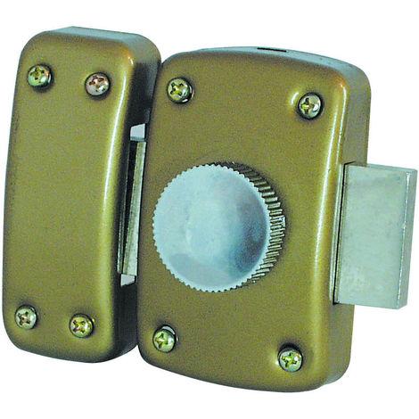 Verrou de Sûreté à bouton - 3 Clés - Diamètre 25mm - Bout arrondi - En Bronze