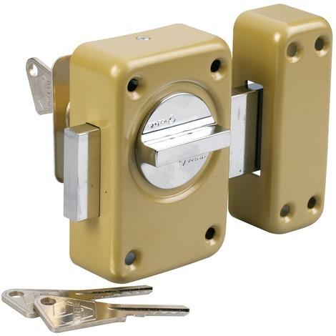 Verrou de sureté bouton et cylindre série V136 Vachette - Longueur 45 mm