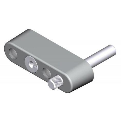 Verrou entrebâilleur à clé pour épaisseur de traverse 33 à 50 mm pour coulissant menuiserie aluminium type 2239