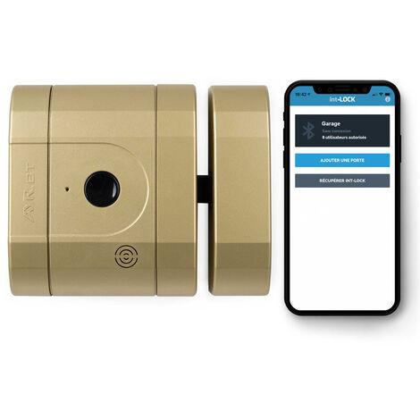 Verrou int-LOCK Bluetooth avec 2 télécommandes + APP pour Smartphone, finition laiton Mat - AYR