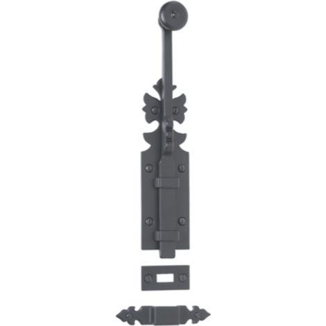 Verrou rustique 1307 BOUVET 250 mm - fer noir - 20720