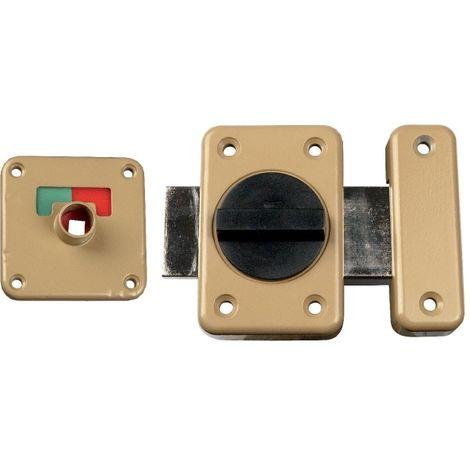 Verrou targette à voyant bronze verni - 45 mm - Vachette