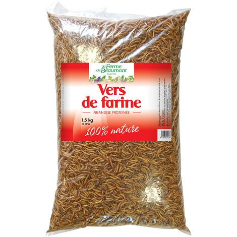 Vers de farine déshydratés 10 litres (1,5 kg)