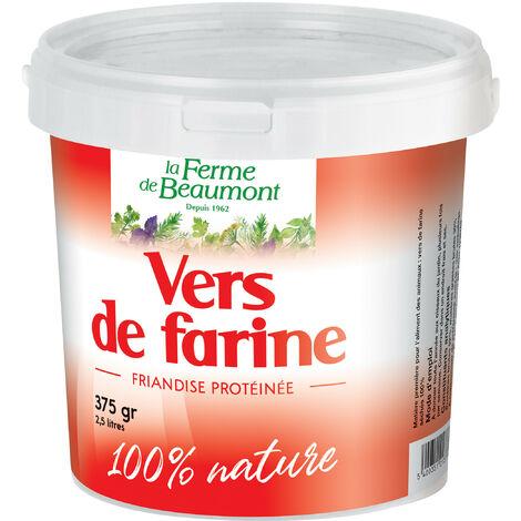 Vers de farine déshydratés 2,5 litres (375 gr)