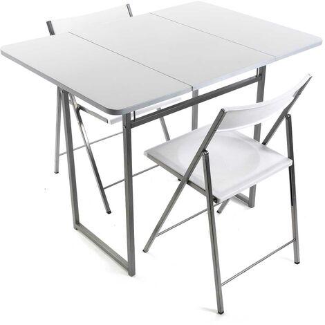 Versa Andrea Set de mesa y Dos Sillas para Cocina, 80x70x100cm - Blanco