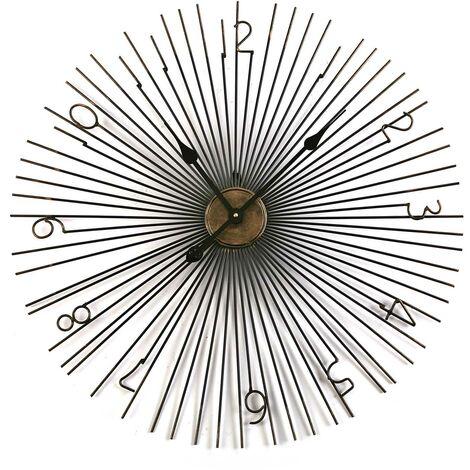 Versa Arniston Reloj de Pared Silencioso Decorativo, 69x4x69cm - Negro