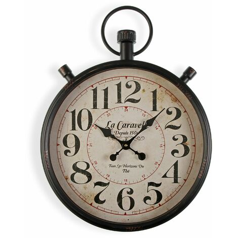 Versa Bridgetown Reloj de Pared Silencioso Decorativo, 60x4x44cm - Marrón y Beige
