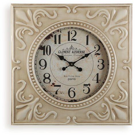 Versa Dolphin Reloj de Pared Silencioso Decorativo, 6x60x60cm - Beige