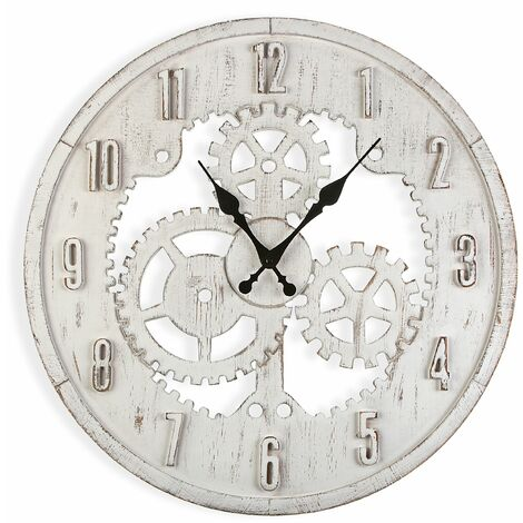 Versa Forster Reloj de Pared Silencioso Decorativo, 60x60x4,5cm - Blanco