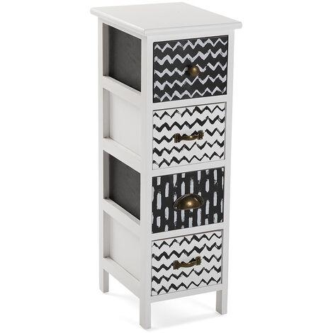 Versa Lauren Mueble para el Baño, 72x30x25cm - Negro y blanco