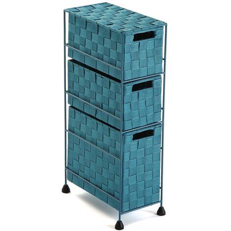 Versa Mannheim Mueble para el Baño, 57x28x15,5cm - Azul