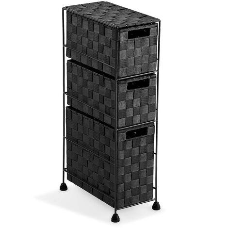 Versa Mannheim Mueble para el Baño, 57x28x15,5cm - Negro