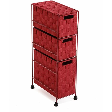 Versa Mannheim Mueble para el Baño, 57x28x15,5cm - Rojo