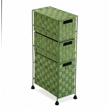 Versa Mannheim Mueble para el Baño, 57x28x15,5cm - Verde