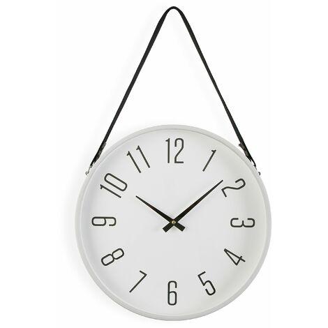 Versa Marla Reloj de Pared Silencioso Decorativo, 40x6x40cm - Blanco