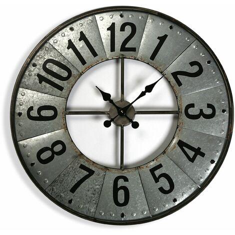 Versa Middleburg Reloj de Pared Silencioso Decorativo, 69x7x69cm - Gris
