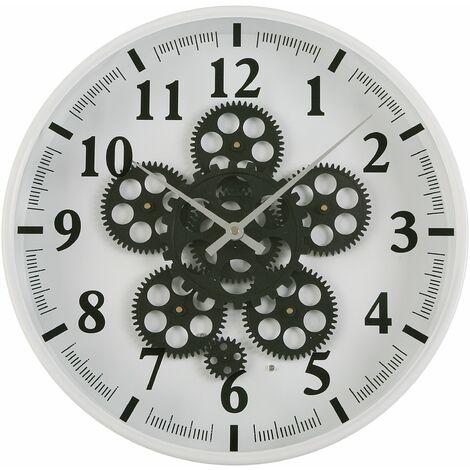 Versa Mintable Reloj de Pared Silencioso Decorativo, 36x6,5x36cm - Blanco
