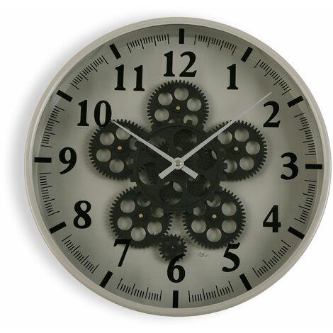 Versa Mintable Reloj de Pared Silencioso Decorativo, 36x6,5x36cm - Gris