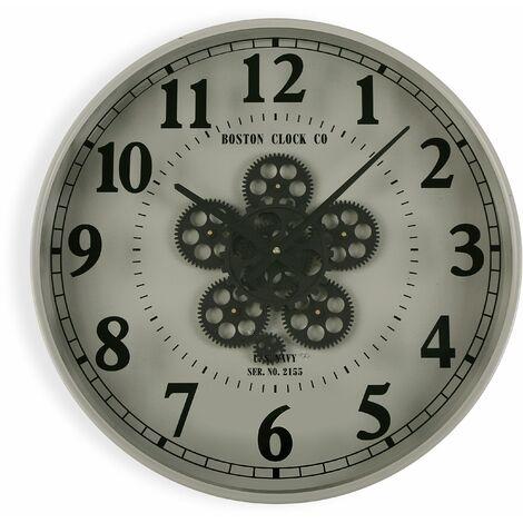 Versa Mintable Reloj de Pared Silencioso Decorativo, 50x6,5x50cm - Gris
