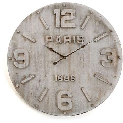 Versa Mitchell Reloj de Pared Silencioso Decorativo, 60x4,5x60cm - Gris