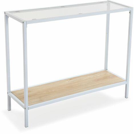 Versa Newark Meuble d'Entrée Étroit, Table console, 76x30x92cm - Blanc