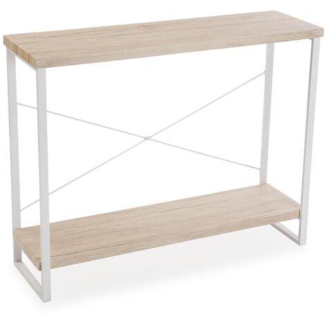 Versa Taline Meuble d'Entrée Étroit, Table console, 80x30x100cm - Blanc