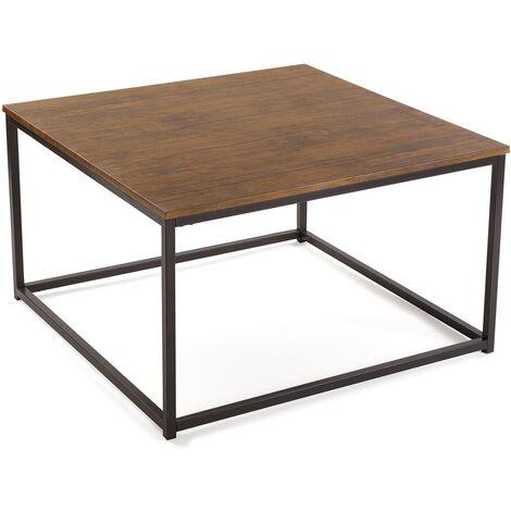 Versa Taline Table basse à café, 46x80x80cm - Noir