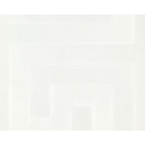Versace Greek Key Motif Geometric Off White/ Cream Wallpaper